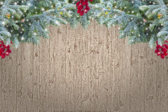 Grunge wooden Christmas border Royalty Free Stock Photography