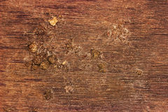 Grunge Wooden Cracked Background or texture with mud. Stock Photo