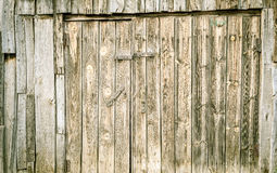 Grunge Wooden Door in Green Royalty Free Stock Photos