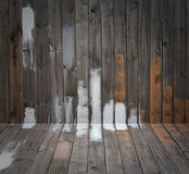 Grunge wooden floor and wall Royalty Free Stock Image