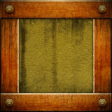 Grunge wooden frame. Framework for text or photo of compositions, or for other design requirements Royalty Free Stock Photos