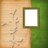 Grunge wooden frame Stock Photo