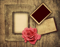 Grunge wooden frame Royalty Free Stock Photography