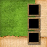 Grunge wooden frames Stock Photo