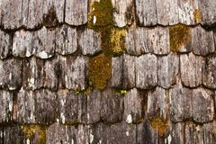 Grunge wooden roof Stock Photos