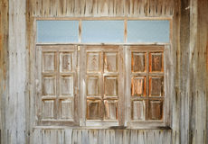 grunge wooden window Stock Image