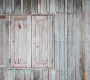 Grunge wooden window wall Royalty Free Stock Photos