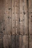 Grunge woodwork. Close up of some old wooden doors stock photo