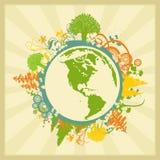 Grunge World Background Stock Images