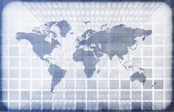 Grunge World Information Technology Stock Image