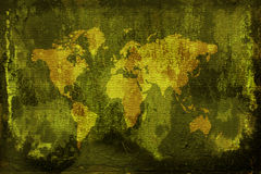 Grunge world map. Computer generated digital grunge world map background Royalty Free Stock Photos