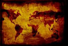 Grunge world map Stock Image