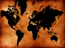 Grunge world map. Computer designed highly detailed grunge world map background Royalty Free Stock Images