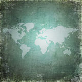 Grunge world map. May be used as background Royalty Free Stock Image