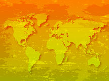 Grunge World Map Royalty Free Stock Photography