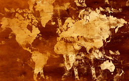 Grunge world map. Computer designed highly detailed grunge world map illustration. Great grunge element for your projects Royalty Free Stock Image