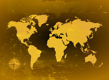 Grunge World Map Stock Photography