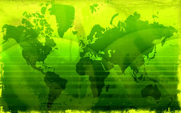 Grunge world map Stock Photo