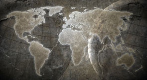 Grunge World map background Royalty Free Stock Photo