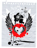 Grunge y amor Ilustración del Vector