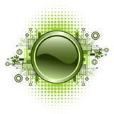 Grunge y botón de alta tecnología del vector. fotos de archivo