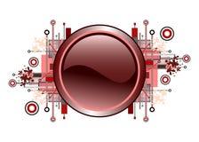 Grunge y botón de alta tecnología del vector. Imágenes de archivo libres de regalías