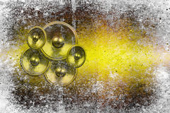 Grunge yellow audio speakers Royalty Free Stock Photos