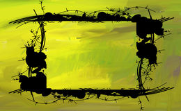 Grunge yellow background Royalty Free Stock Images