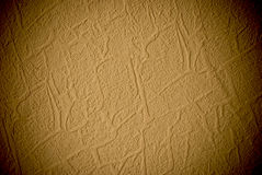 Grunge yellow grained wall background or texture. Closeup of grunge grained wall royalty free stock photography