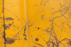 Grunge yellow metal texture Stock Photo