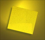 Grunge yellow paper sheet Stock Photos