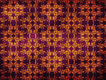 Grunge yellow pattern on purple background Royalty Free Stock Images