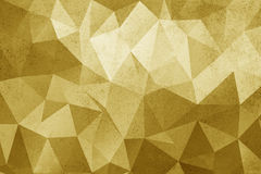 Grunge yellow polygonal vintage old background. Stock Photography