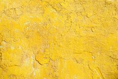 Grunge yellow wall Stock Photo
