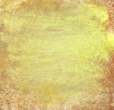 Grunge yellow wall background with details Stock Photography