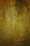 Grunge yellow wall texture Stock Photography