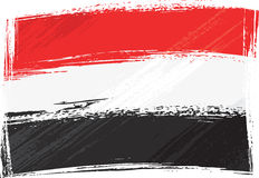 grunge Yemen bandery Zdjęcie Royalty Free