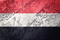 grunge Yemen bandery Jemen flaga z grunge teksturą Fotografia Royalty Free