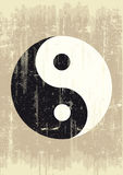 Grunge yin yang. A grunge background with a yin yang symbol for a publicity Stock Photography