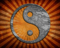 Grunge yin yang symbol Royalty Free Stock Photos