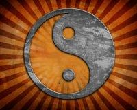 Grunge yin yang symbol. Background Royalty Free Stock Photos
