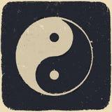 Grunge yin yang symbol background. Stock Images