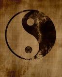 Grunge yin yang symbol background. royalty free stock images