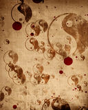 Grunge yin yang symbol background. With some rough scratches Stock Photos
