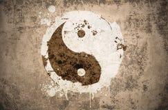 Grunge yinyang symbol Stock Image