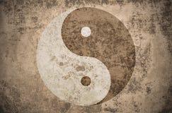 Grunge yinyang symbol Stock Photos