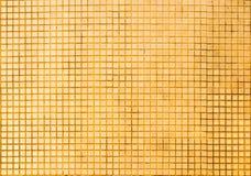Grunge złota mozaiki płytek tekstura Obraz Royalty Free