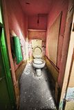 Grunge zaniechany toilette zdjęcia royalty free
