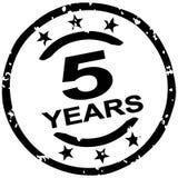 grunge zegel 5 jaar jubileum vector illustratie