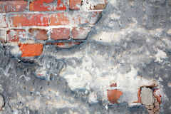 Grunge Ziegelsteine und Beton Stockfoto